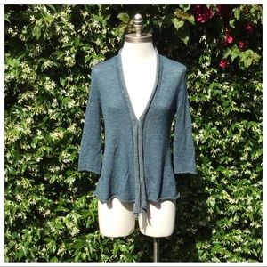 Eileen Fisher Alpaca Waterfall Open Cardigan XS